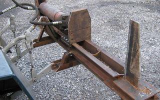 Как пользоваться гидравлическим дровоколом?